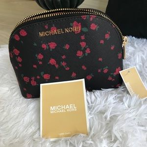 New Michael Kors roses cosmetic pouch